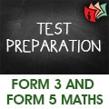 Exclusive Training For Form 3 and  Form 5 Maths Test Preparation Class