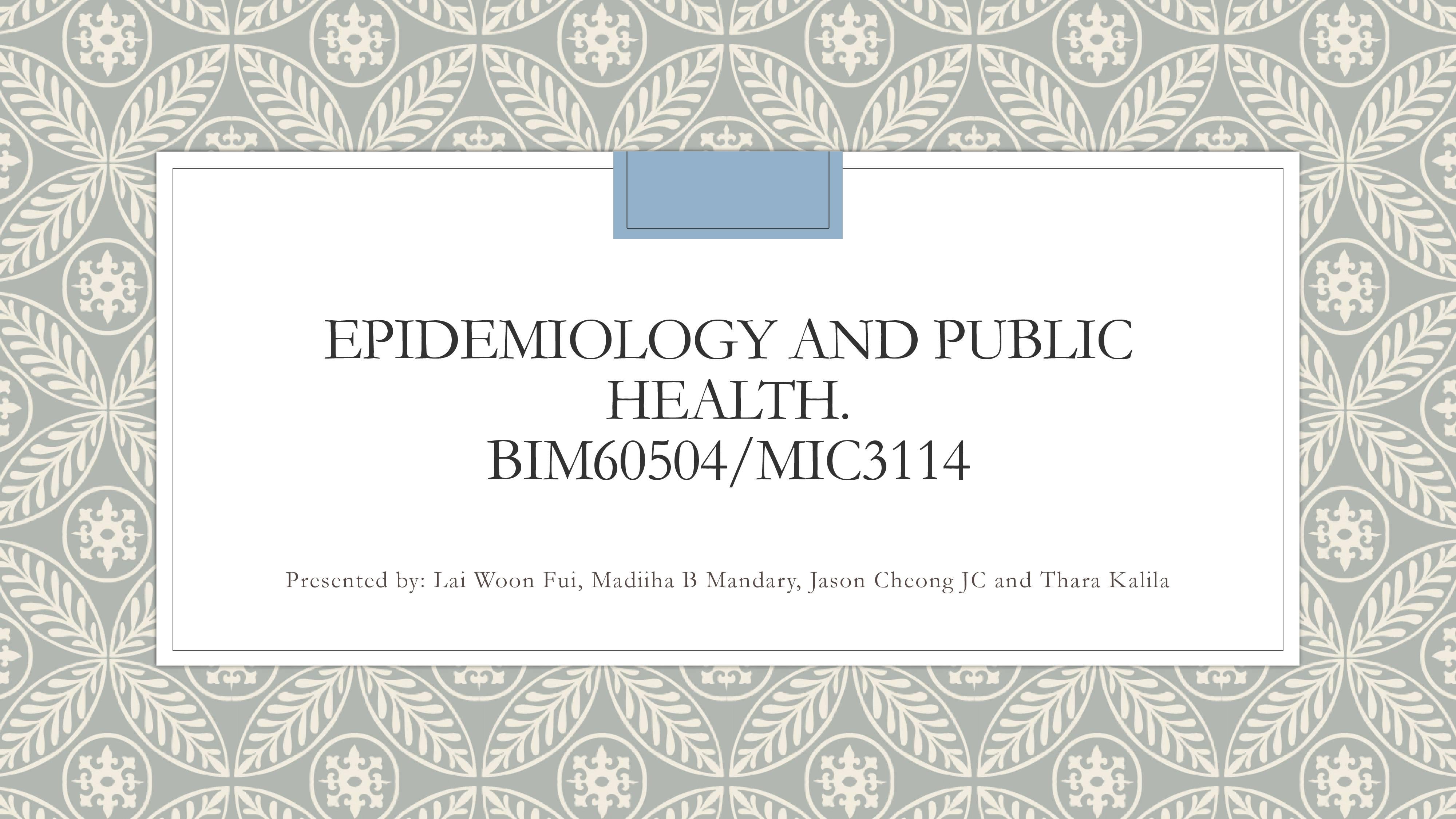 Epidemiology of Cardiovascular Disease in Malaysia
