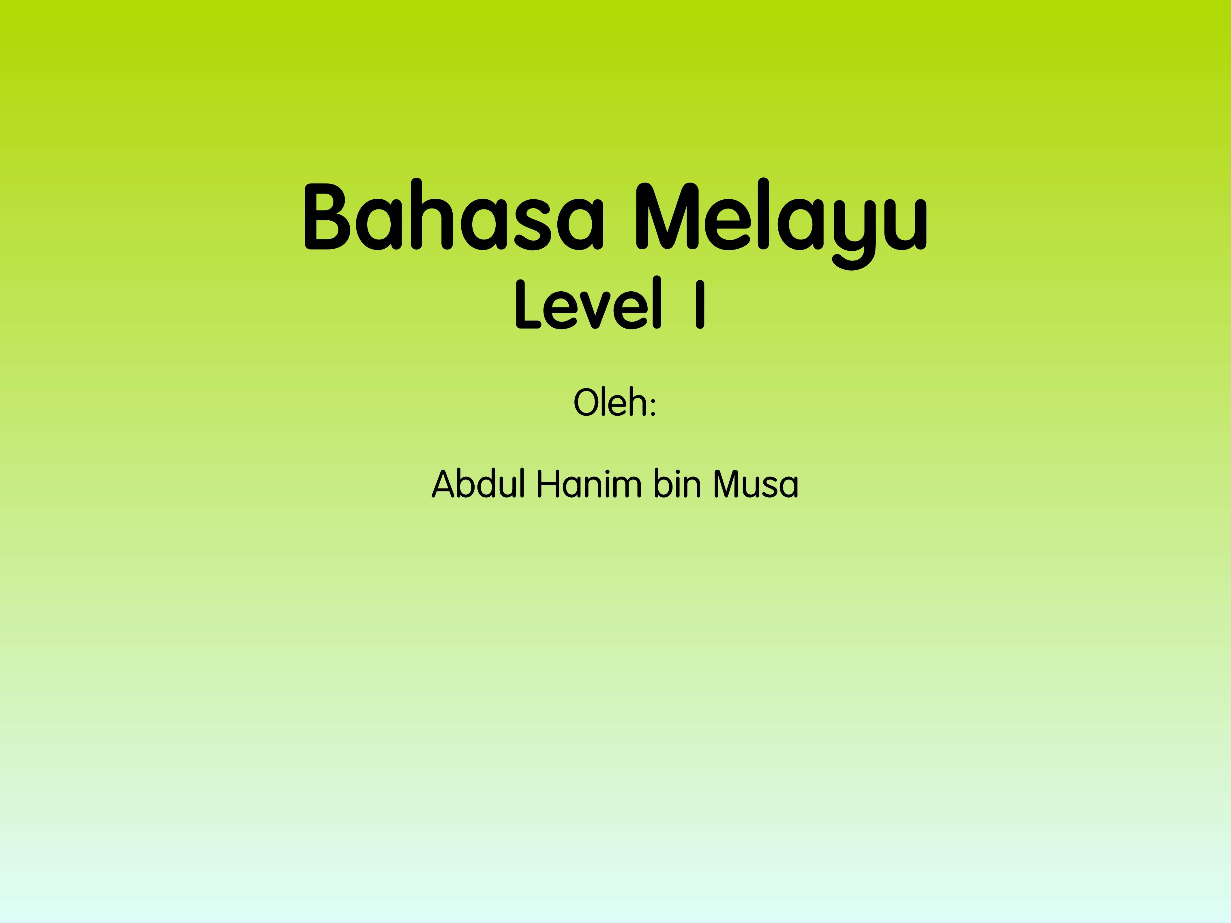 Tuition On Bahasa Melayu (Level 1)