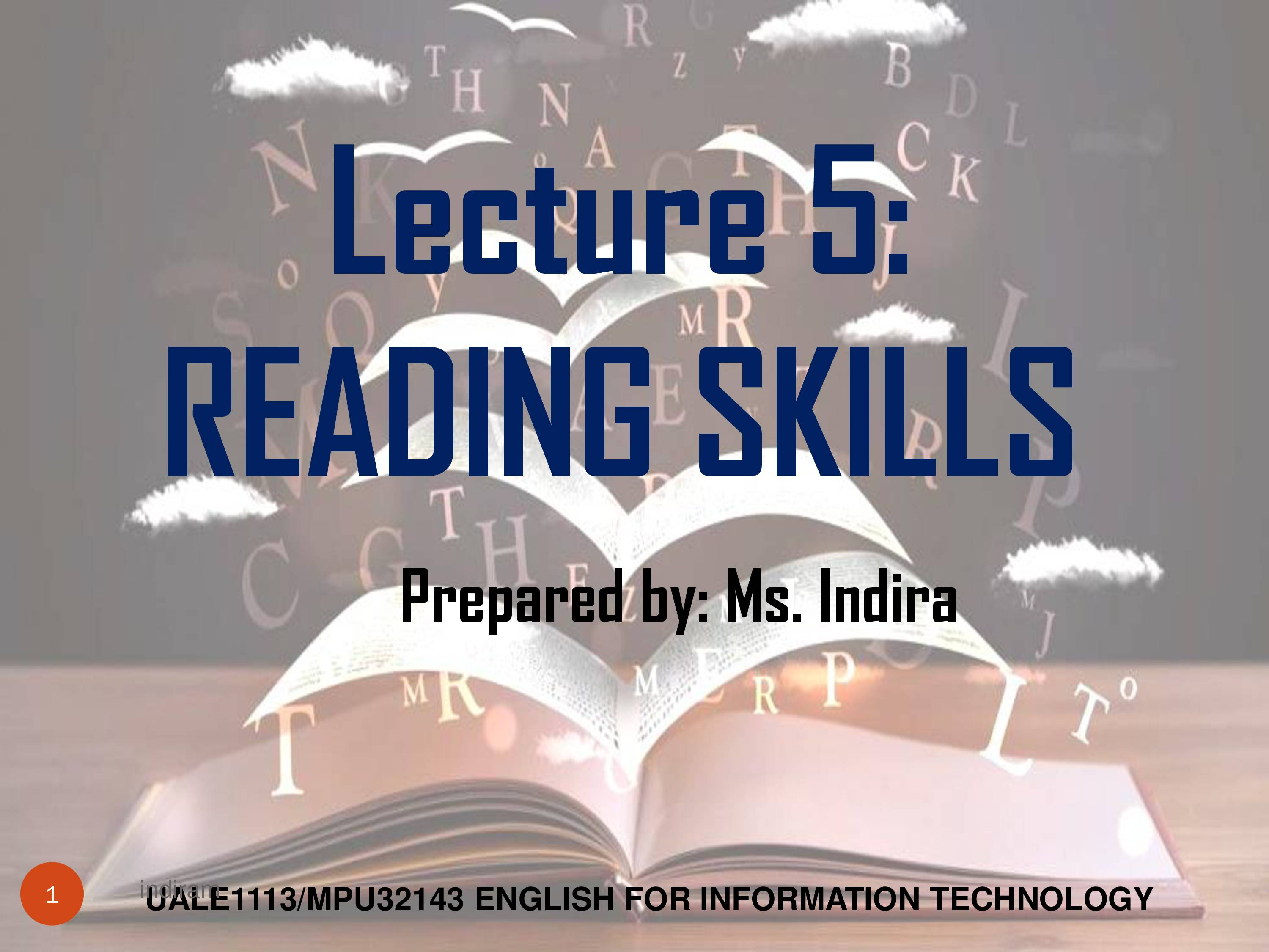 PPT On Reading Skills