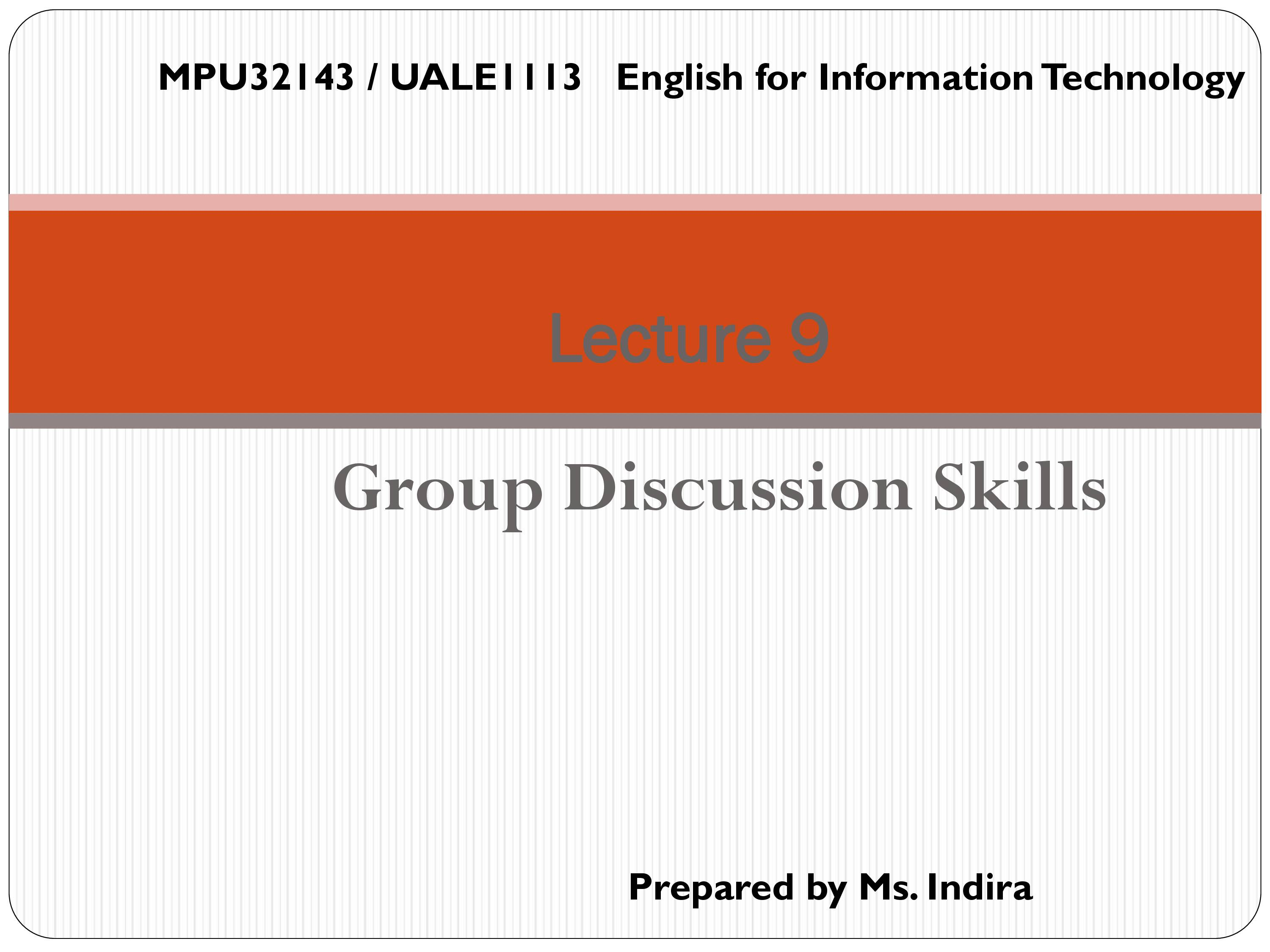 PPT On Group Discussion Skills