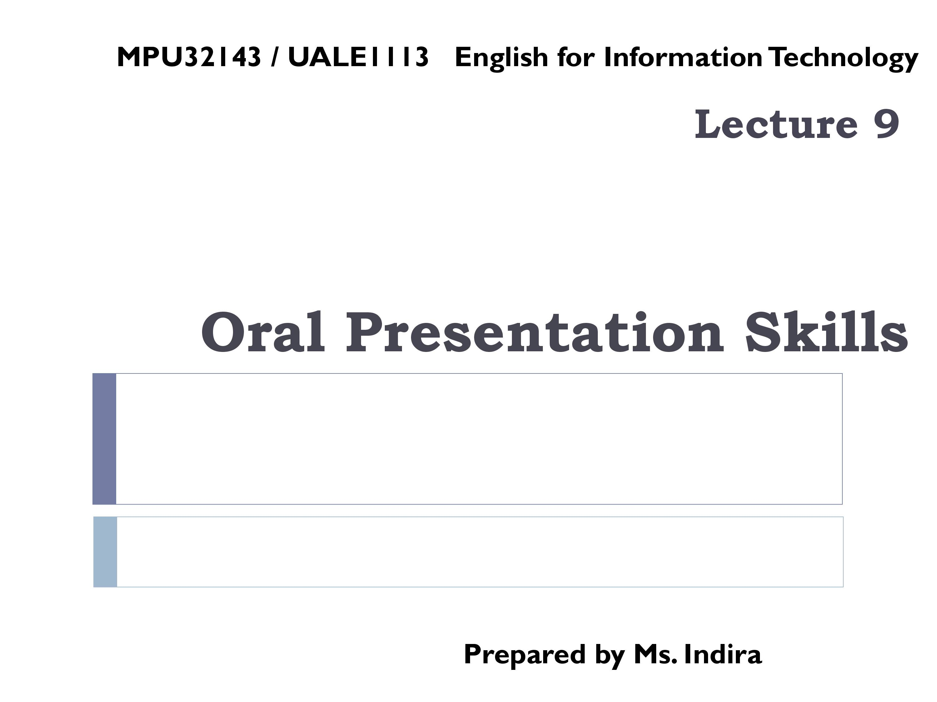 PPT on Oral Presentation