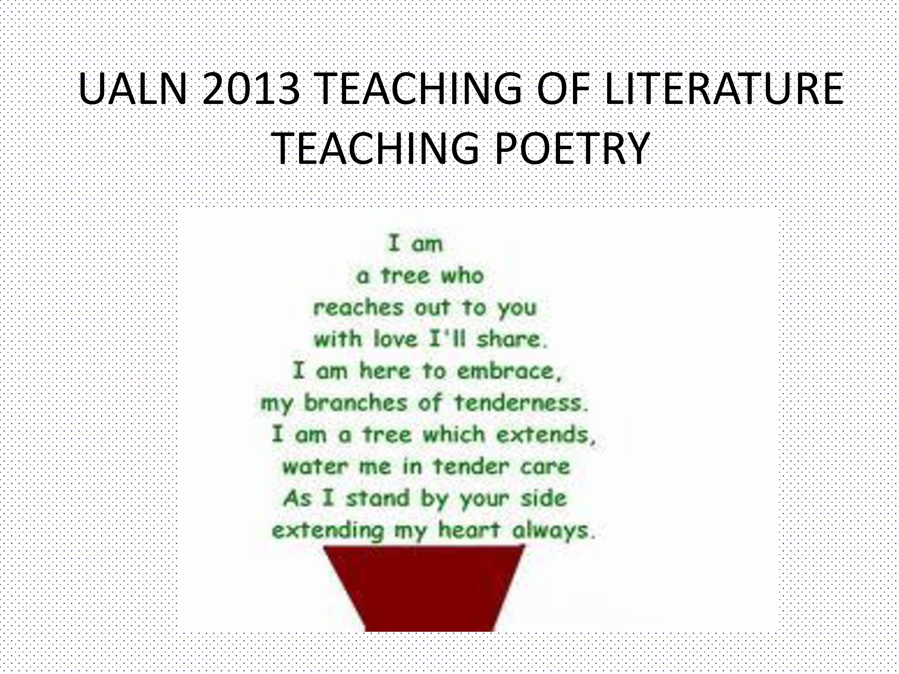 PPT On How to Teach Poetry