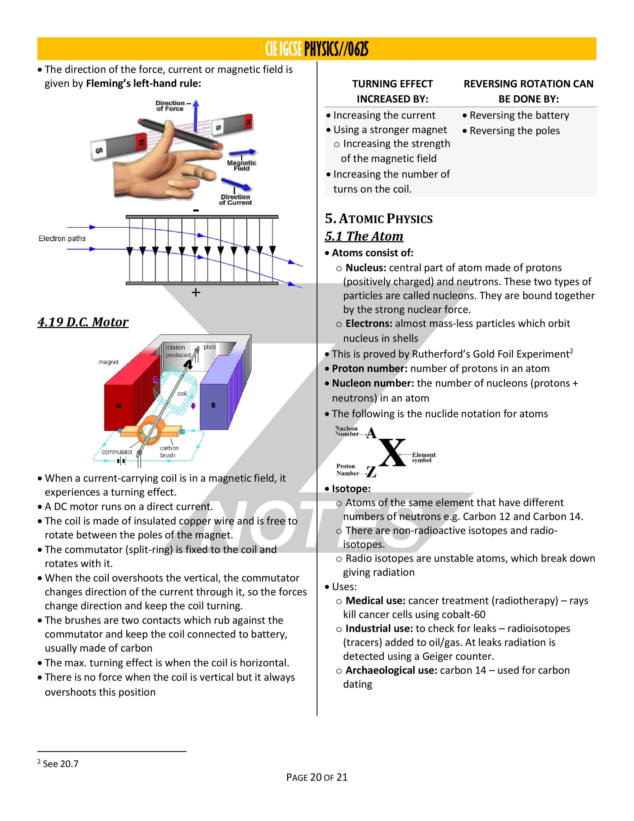 Notes igcse physics z Amazing notes